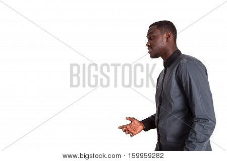 angry frustrated man isolated on white background