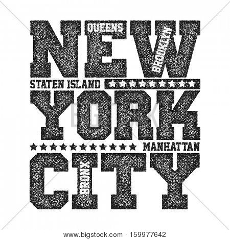 New York City Typography Graphics, T-shirt design. vector illustration