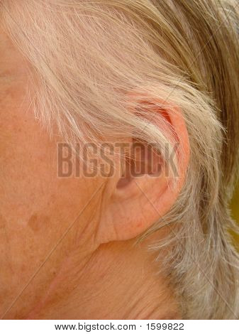 Part Of A Old Woman'S Head