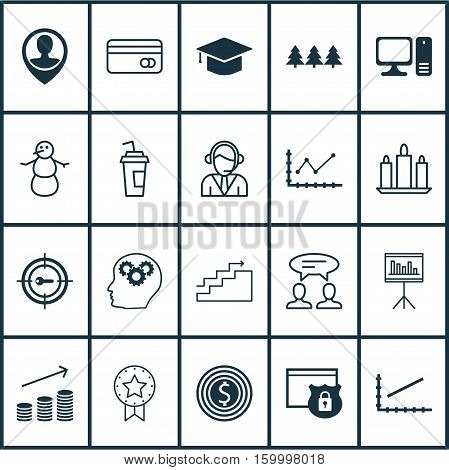 Set Of 20 Universal Editable Icons. Can Be Used For Web, Mobile And App Design. Includes Elements Such As Graduation, Security, Wax And More.