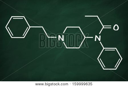 Structural Model Of Fentanyl