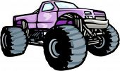 foto of monster-truck  - 4x4 monster truck - JPG