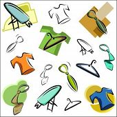 pic of clothes hanger  - A set of vector icons of clothing and accessories in color - JPG