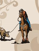 picture of brahma-bull  - Western Rodeo Background Series - JPG