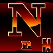 picture of letter n  - Dramatic dark sunset  styled alphabet letter n - JPG