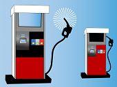 gas pump concept vector