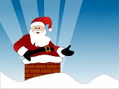 Постер, плакат: Санта собирается в трубу