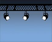 foto of flood-lights  - Spot Lights with industrial beams  - JPG