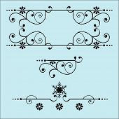 picture of scrollwork  - page design elements - JPG