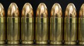 9Mm Bullets Lined Up Macro Background