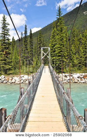 Bridge over Vermilion river at Kootenay National Park, Canada