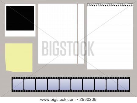 Paper And Slides Vector Set