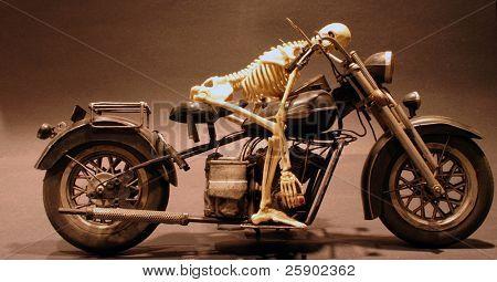 """Death rides a chopper"" the grim reaper sleeps on his sled"