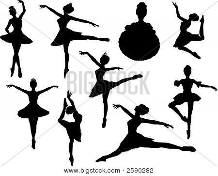 Ballerina Vector Silhouettes