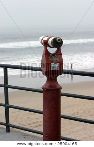 coin opperated beach telescope