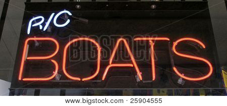 Neon Sign series r/c boats