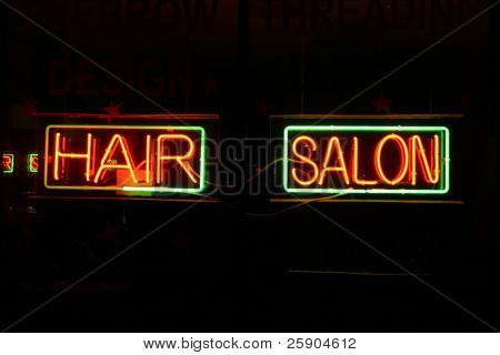 "Neon Sign series  ""hair salon"""
