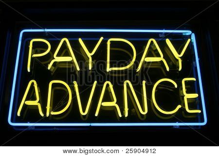 """neon sign"" series ""payday advance"""