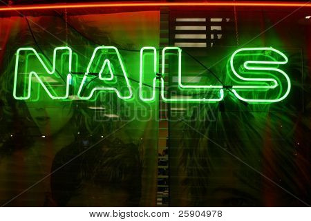 """neon sign"" series Nails"