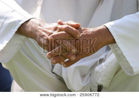 closeup of a persons hands