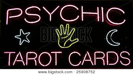 """psychic tarot cards"" ""neon sign"""