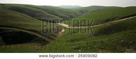 beautiful green rolling hills for miles and miles