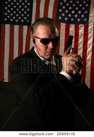 ein Geheimdienst-Agenten-Konzept