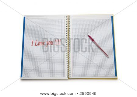 Open Binder With