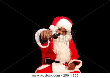 Santa in Da Hood A black Santa points a Pistol Directly at YOU THE VIEWER in this series of Santa Gone Bad