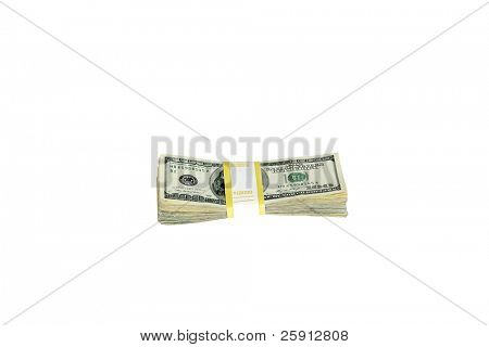 Ten Thousand dollars isolated on white
