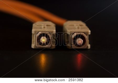 Glowing Fiber Connectors