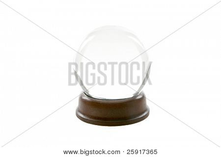a fortune teller crystal ball, isolated on white