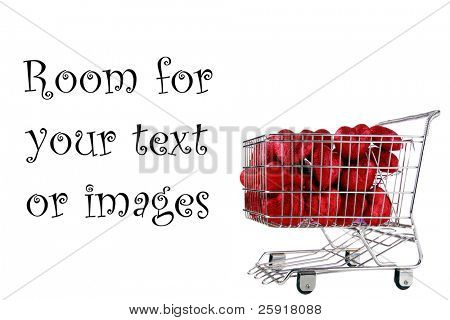 a shopping cart filled with