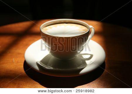 latte art in a coffee shop