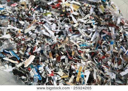 preventing ID Fraud with Shredded paper, shredded checks, credit cards and other sensitive information