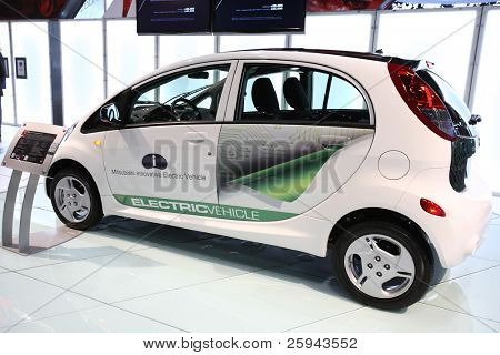CHICAGO - FEBRUARY 15: The Mitsubishi electric car