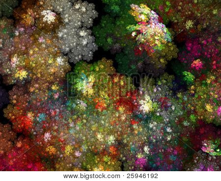 Spece full of precious gems - astronomical treasure fractal