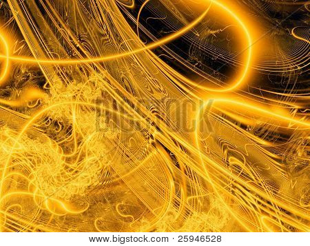 Beautiful golden background made with sun burst motive