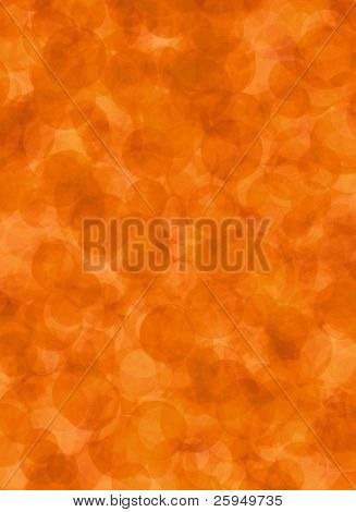 Orange background made of round shapes. Some analogue grain.