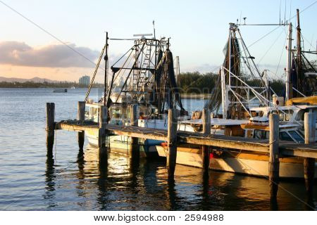 Jetty With Trawlers