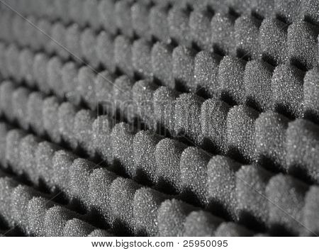 Bumpy open-cell foam rubber