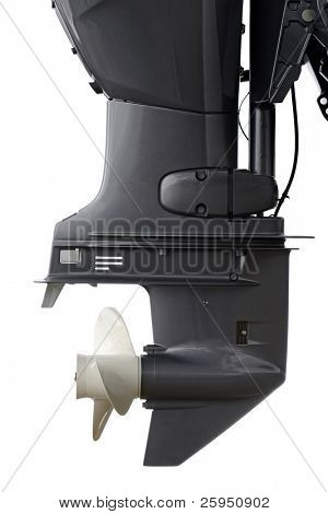 60hp outboard engine in closeup