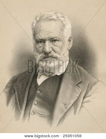 Victor Hugo, French poet, playwright, novelist, essayist, visual artist, statesman.  Source: P. Ahlberg's