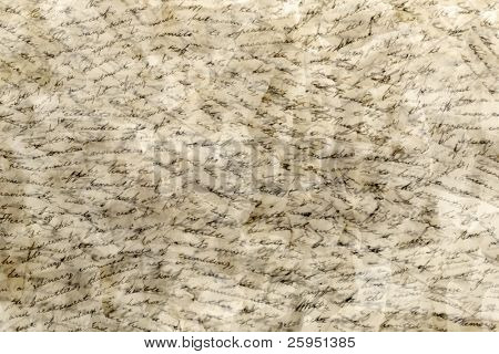 Handwritten text in many layers background texture