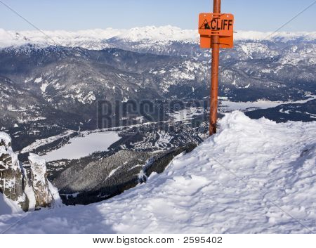 Cliff Sign At Whistler
