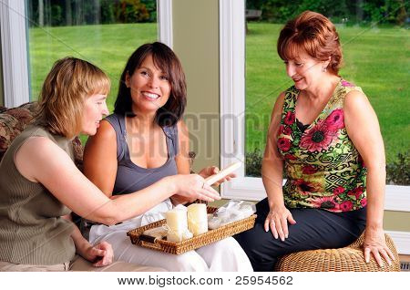 Middle Age Women At A House Candle Party