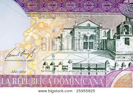 Dominican Republic Fifty Peso Bank Note Close Up