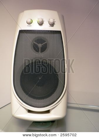 Computer Speaker On Desktop