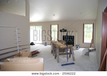 Unfinished Living Room Under Construction