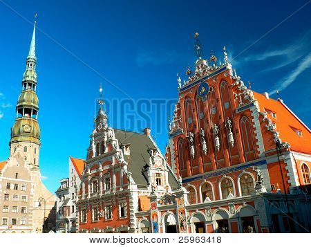 "Riga - capital of Latvia. Old city, ""Blackheads house"""